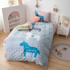 Комплект постельного белья Сатин Детский CD036, 1.5 спальный, наволочки 50-70  1 шт