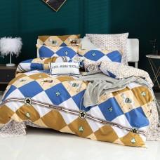 Комплект постельного белья Делюкс Сатин L408, Евро, наволочки 4 шт
