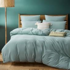 Комплект постельного белья Однотонный Сатин CS034, Дуэт Семейный, наволочки 4 шт