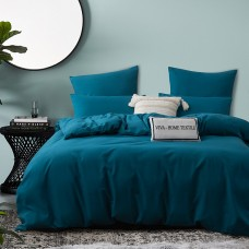 Комплект постельного белья Однотонный Сатин CS039, Евро, наволочки 4 шт
